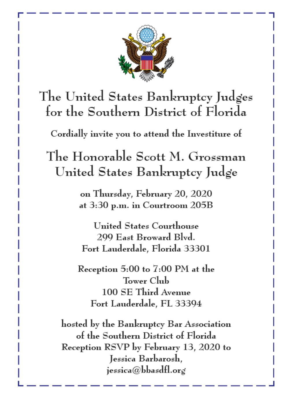 The Honorable Scott M. Grossman