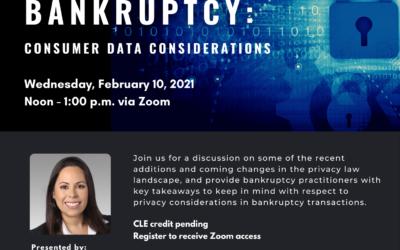Brown Bag Webinar – Data Privacy & Corporate Bankruptcy: Consumer Data Considerations